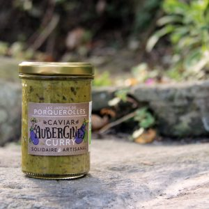 Caviar bio d'aubergines au curry des jardins de Porquerolles