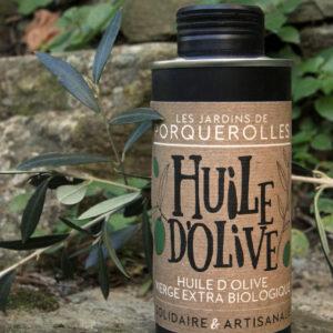 Huile d'olive bio vierge extra des Jardins de Porquerolles
