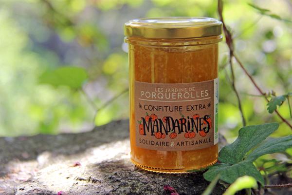 Confiture bio extra de mandarines des jardins de Porquerolles