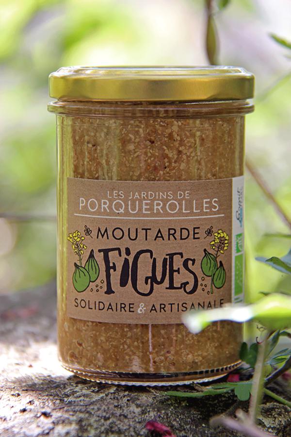 moutarde bio de figues des Jardins de Porquerolles