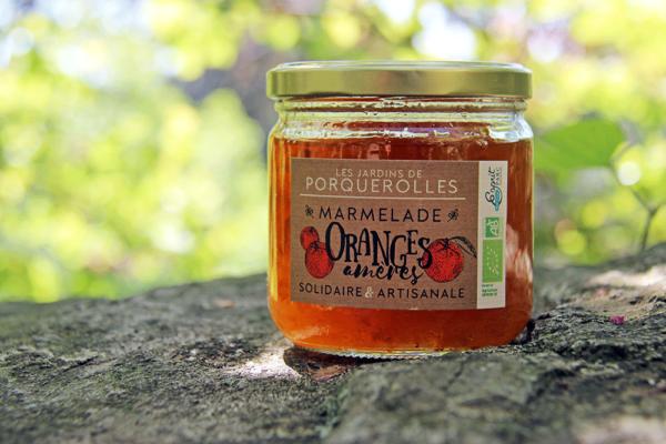Marmelade bio oranges amères Jardins de Porquerolles